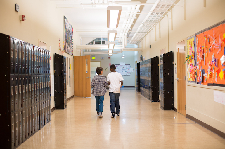 gateway middle school students in hallways