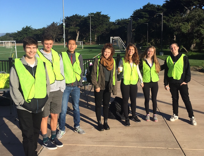 Gateway students volunteer at SFUSD Special Olympics
